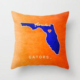 Gators Throw Pillow