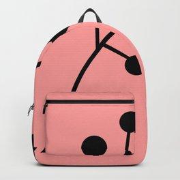 Black Globular Floral Backpack