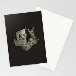 K9 Unit  - Malinois Belgian shepherd -Mechelaar Stationery Cards