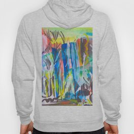 Abstract landscape expressionist Hoody