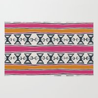 kilim Area & Throw Rugs featuring Cleveland 4 by Little Brave Heart Shop