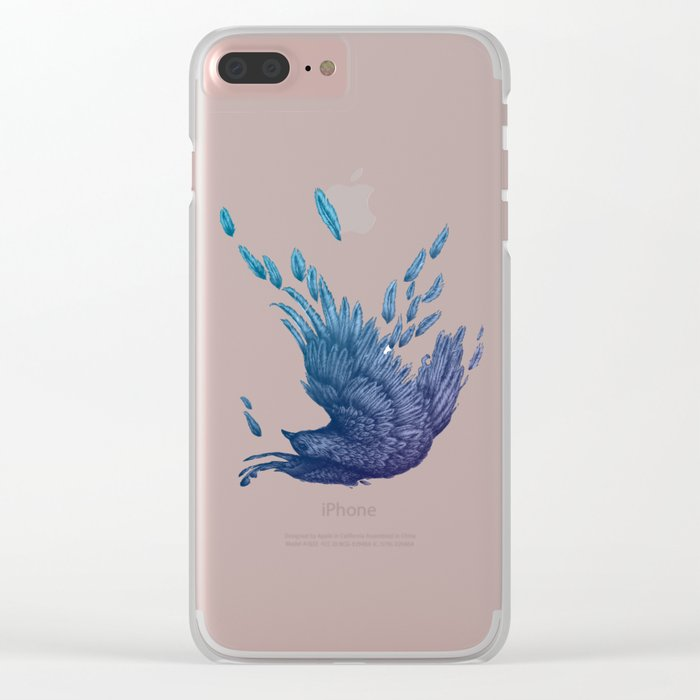 Midnight Falling Clear iPhone Case
