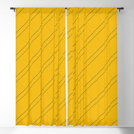 Selective Yellow Crisscross Blackout Curtain