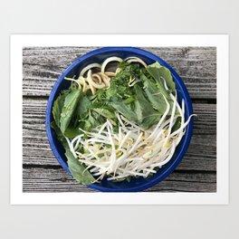 Raw vegan pho Art Print