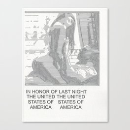 In Honor of Last Night: The United States of America Canvas Print