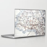 jamaica Laptop & iPad Skins featuring Map Section: Jamaica by Shaunia McKenzie