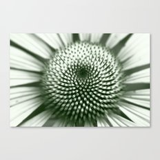 Black and White Flower Core Canvas Print