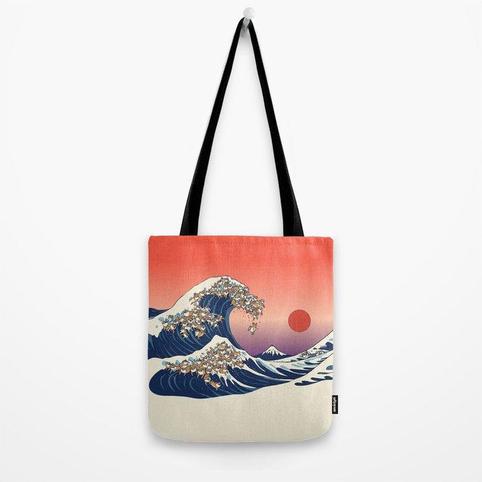 The Great Wave of Shiba Inu Tote Bag