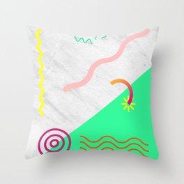 Digital Pulse Throw Pillow
