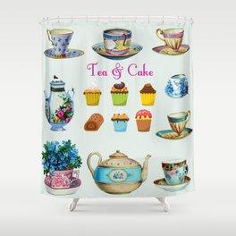 Tea & Cake Shower Curtain