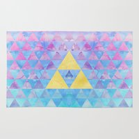 zelda Area & Throw Rugs featuring Zelda Geometry by enthousiasme