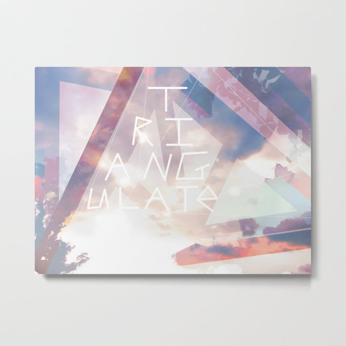 Triangulate Metal Print