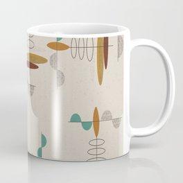 Mid-Century Modern Suspended Ovals Coffee Mug
