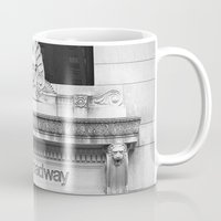 broadway Mugs featuring 100 Broadway by Jon Cain