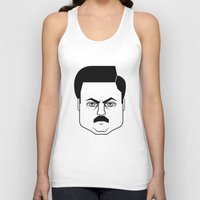 swanson Tank Tops featuring Ron Swanson by Jude Landry