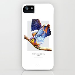 Tropicolygonal Bird iPhone Case