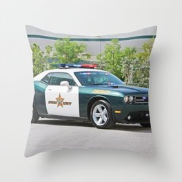 Broward Country Florida Challenger Police Highway Patrol Throw Pillow