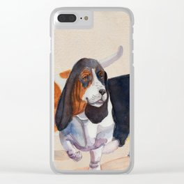 Basset hounds - Double trot Clear iPhone Case