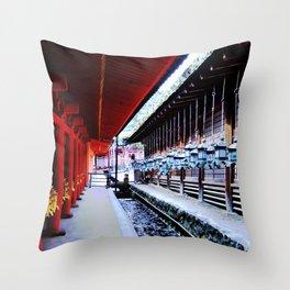 Follow Me (Kyoto, Japan) Throw Pillow
