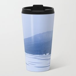 Frozen Allegany Lake Travel Mug