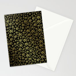 golden notes music symbol in black Stationery Cards