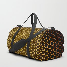 Brown Honeycomb Duffle Bag