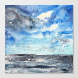 Blue escape - stormy seascape Canvas Print