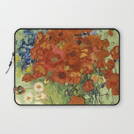 """Vincent van Gogh """"Still Life, Vase with Daisies, and Poppies"""" Laptop Sleeve"""