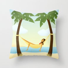 Tropical Relaxation Throw Pillow