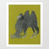 camel Art Prints featuring Camel by Amanda James