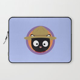 Park ranger cat in purple circle Laptop Sleeve