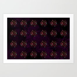 Pattern with Coppery Jewelery Brooches Art Print