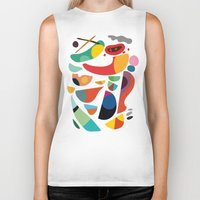kitchen Biker Tanks featuring Still life from god's kitchen by Picomodi