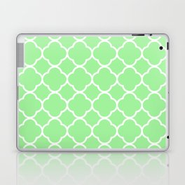 Lime Green Quatrefoil Laptop & iPad Skin