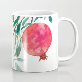 red pomegranate watercolor Coffee Mug