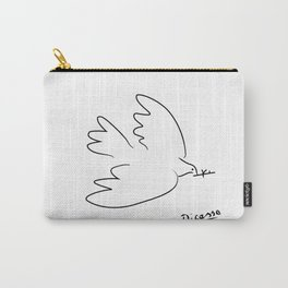 dove peace line art picasso, Pablo Picasso minimalist art,large ,modern art, Carry-All Pouch