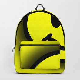 Smiley Face Skull Yellow Shadow Backpack