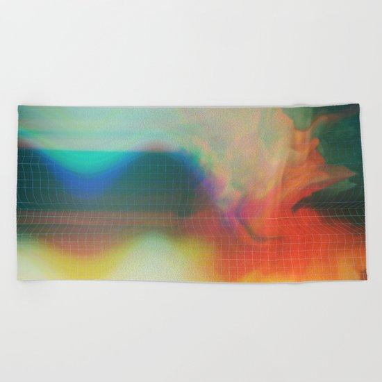 Glitch 01 Beach Towel