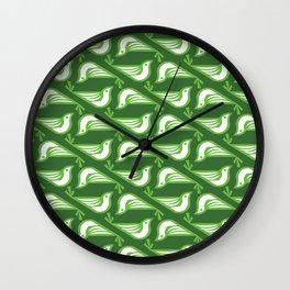 Danish Doves (Fir) Wall Clock