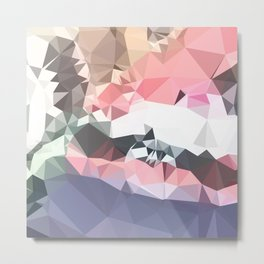 Lavender Pink Abstract Low Polygon Background Metal Print