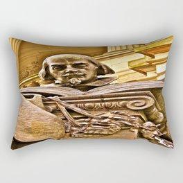 Shakespeare Hits the Books Rectangular Pillow