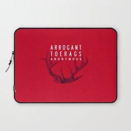 ARROGANT TOERAGS ANONYMOUS Laptop Sleeve
