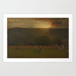 George Inness (American, 1825-1894). The Rigor of the Game, Kearsarge Hall, North Conway, New Hampsh Art Print