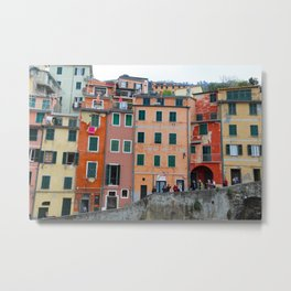 All About Italy. Piece 6 - Riomaggiore Houses Metal Print