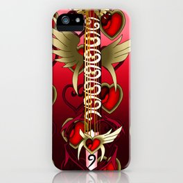 Fusion Keyblade Guitar #139 - Lurebreaker & Lost Memory iPhone Case