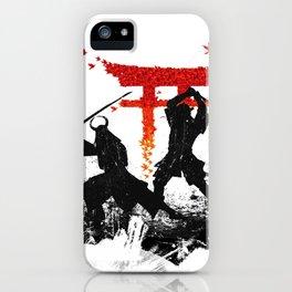Samurai Duel iPhone Case