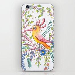 serious bird iPhone Skin