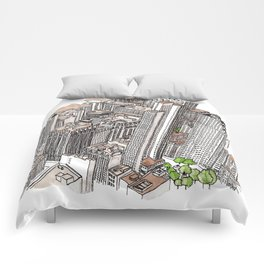 New York View Comforters