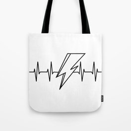 Bowie Heartbeat Tote Bag