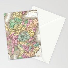 Vintage Map of Scotland (1827)  Stationery Cards
